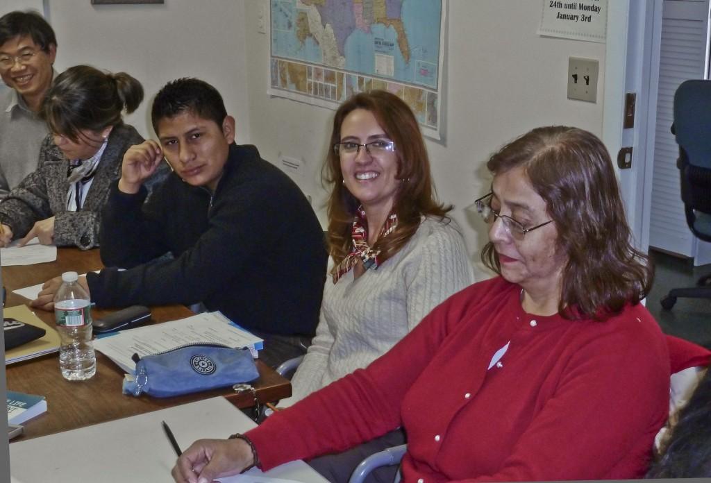 Margarita, Cecilia, Guillerma's son, Martha, and Lang
